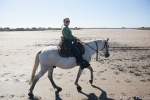 Elaine having fun in the Camargue.